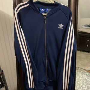 Men's navy Adidas track jacket